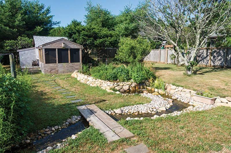 Tom Chase's backyard in Oak Bluffs.